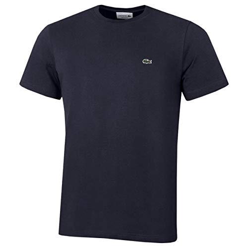 Lacoste Herren T-Shirt TH2038-00 Einfarbig, Blau (NAVY BLUE 166), Gr. 5 (Herstellergröße: L)