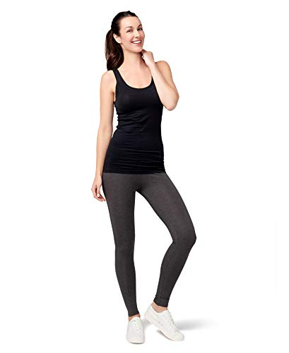 Pact Women's Stretch-Fit Tank Top, black/white, Small