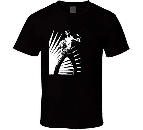 Bon Scott T-Shirt AC DC Rock and Roll Legends T-Shirts Let There Be Rock Cool Gr. L, Schwarz