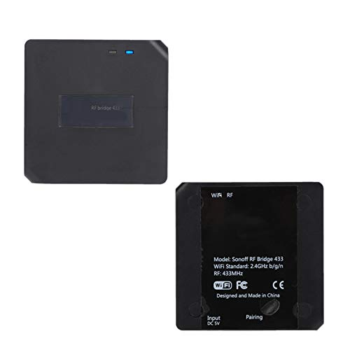 DAUERHAFT Interruptor Remoto USB5V WI-FI2.4GHz Interruptor Remoto doméstico Puente RF para Sonoff RE Brideg para Control Remoto 433
