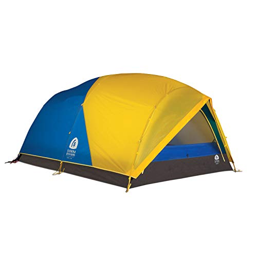 Sierra Designs Convert 3 Tent, 3 Person 4 Season All Weather Backpacking and Mountaineering Tent, Yellow/Blue