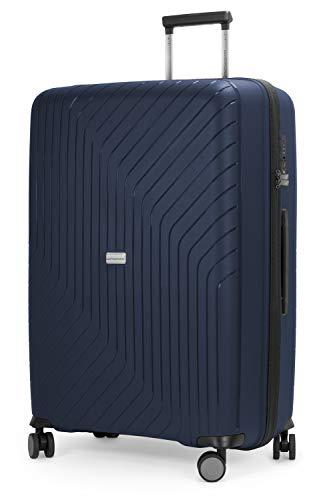 HAUPTSTADTKOFFER- TXL - extra Leichter Hartschalenkoffer, grosser Check-In Rollkoffer 76 cm, aufgegebenes Gepäck aus robustem Polypropylen, Dunkelblau