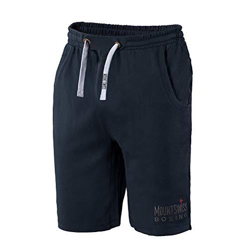 Mount Swiss Herren Sport Shorts Boxer/Kurze Hose/Jogginghose/Sweatpants aus 100{4d780e56c3219303187e5d209fb6c58e4738d3fe06bb5c5714387c657c0af4ae} Baumwolle, Farbe: Navy, Gr. 4XL