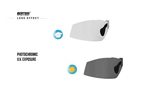 Radbrille Selbsttönend Polarisiert – Fahrradbrille Photochrome Sportbrille Sonnenbrille Ski Laufen Golf Running by Snatch Italy (Matt Schwarz / Shiny Schwarz, Photochromen) - 4