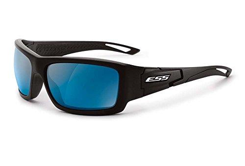 ESS Sunglasses Credence Black Frame Blue Mirror Polycarbonate Lens by ESS