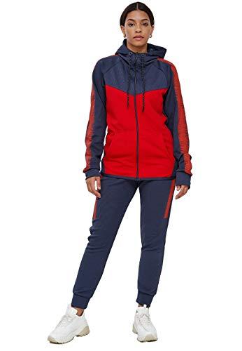 John Kayna Chándal para mujer | ropa de calle | Fitness | Chándal | Pantalones deportivos con capucha | Chándal | Chándal de entrenamiento | Pantalones de jogging | Modelo 1053AC-JK rojo XL