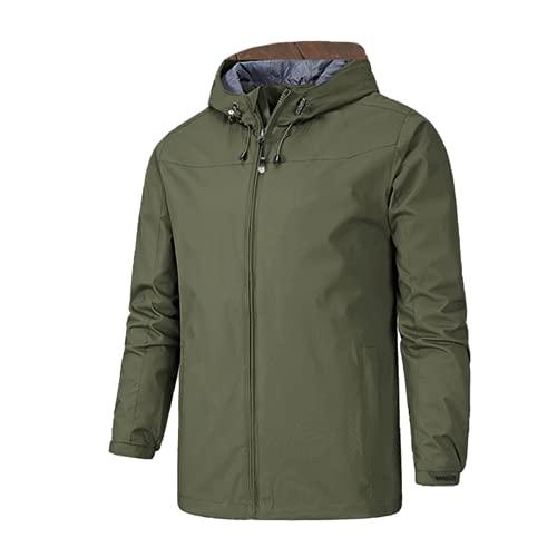 Hombres de moda y chaquetas con capucha que acampan de secado rápido impermeable