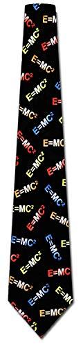 LREFON Albert Einstein Ties Science Neckties E = mc2 Tie Corbata para hombre