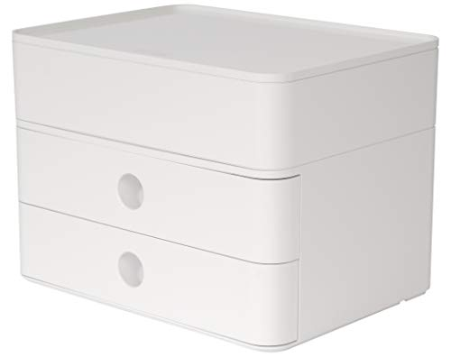 HAN 1100-12, SMART-BOX PLUS ALLISON, Design Schubladenbox mit 2 Schubladen und Utensilienbox, snow white