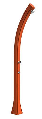 Douche à chauffage solaire Arkema F560/2009 Happy Beach Orange Douche solaire en polyéthylène HD Résiste à rayons UV salsedine et calcaire pour milieux marins ventosi Capacité 28 litres poids 9 kg hauteur 217 cm avec mitigeur temporisé sans lavapiedi