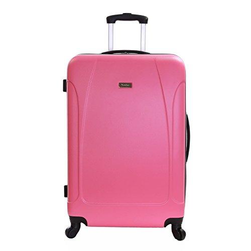 Karabar trolley bagaglio da stiva valigia rigida leggera grande XL 76 cm 4,4 kg 100 litri con 4 ruote, Evora Rosa