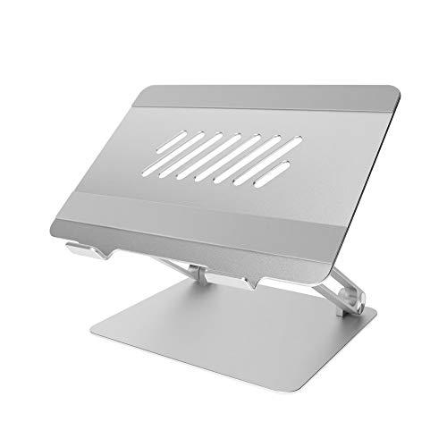 オウルテック 折り畳みアルミスタンド ノートパソコン・タブレット 17インチまで対応 シルバー OWL-PCST01-SI