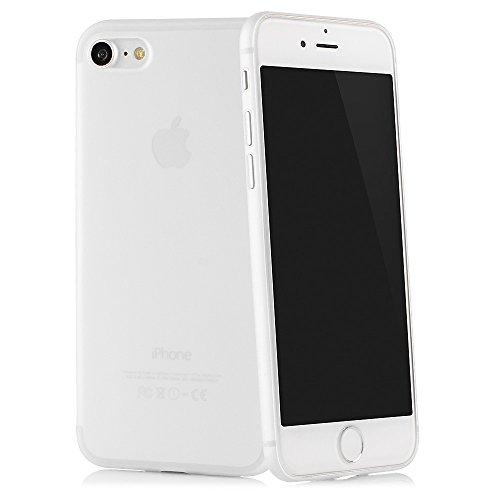 """QUADOCTA iPhone 8, iPhone 7 (4,7"""") Ultra Slim–Funda Protectora–Tenuis Blanco– Case Bumper Fácil de protección Transparente Smart Cover Compatible con Apple iPhone8 con Protección De La Cámara"""