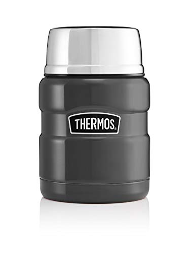 Picture of Thermos 105053 Stainless King Food Flask, Gun Metal, 470 ml