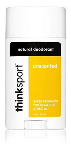 Thinksport Deodorant, Unscented (2.9 ounce) , Yellow/White/Black
