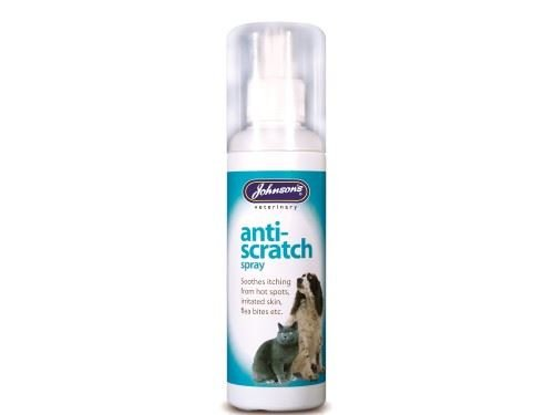 (4 Pack) Johnson's Vet - Anti-Scratch Spray Dog,Cat&Small Animal 100ml