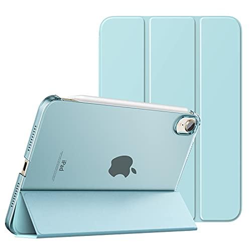 MoKo Schützhülle Kompatibel mit Neu iPad Mini 6 8,3 Zoll 2021 - iPad Mini 6. Generation Schutzhülle mit Trifold Ansichtsständer Auto Schlaf/Aufwach Intelligente Hülle Ständer Cover, Himmelblau