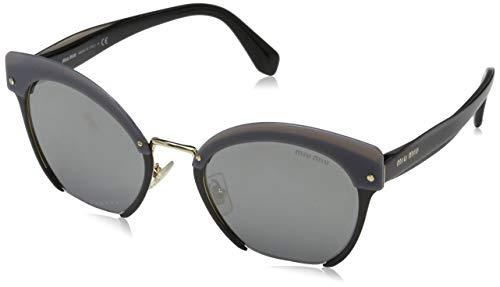 Miu Miu Damen 0Mu53Ts 1Ab7W1 53 Sonnenbrille, Schwarz (Black/Greymirrorsilver)