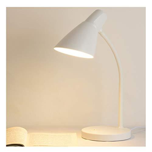 Oficina de lámparas de escritorio Protección de los ojos del estudiante de la lámpara LED de aprendizaje de lectura lámpara de escritorio, lámpara de cabecera simple plug-in de tres etapas de atenuaci