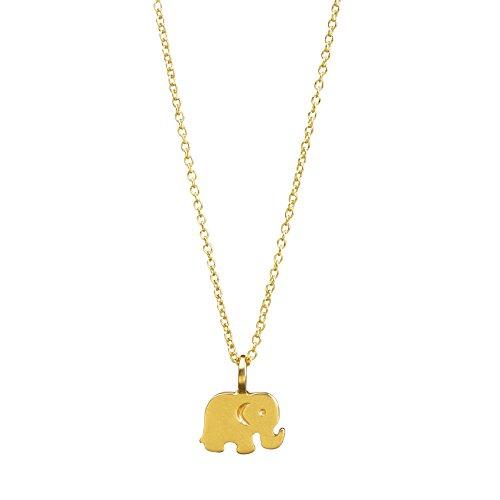 Dogeared Good Luck Elephant Reminder Necklace, Gold Dipp