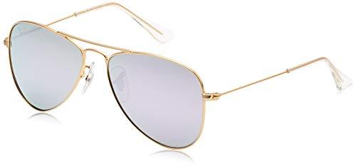 Ray Ban Kinder Sonnenbrille 0RJ9506S, Gold (Gestell: Matt Gold Gläser: Lila Flash 249/4V), Small (Herstellergröße: 50)