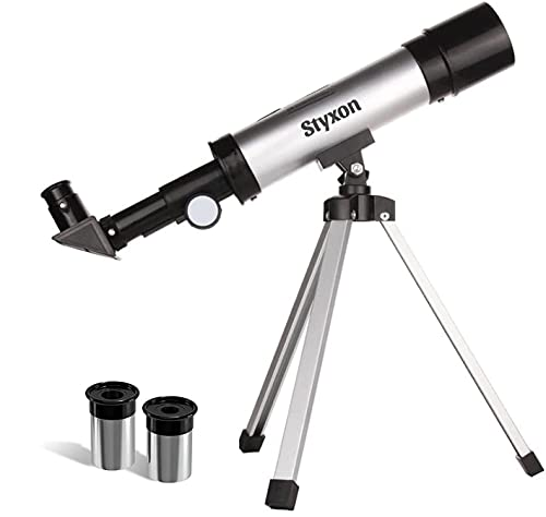 STYXON/Telescope for Kids Capable of 90x Magnification, Includes 2 Eyepieces - Portable & Easy to Use Lightweight Portable Telescope-SD004