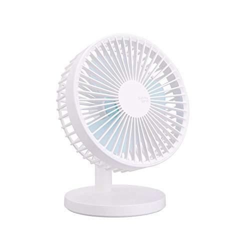 XUERUI elektrische ventilator, 3 snelheden, draagbaar, mini-USB, bureau, huis, kantoor en kantoor