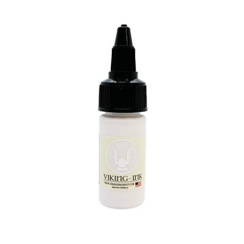 VIKING INK - Tattoo Ink - WHITE ULTRA 0.5oz (15ml) - The best colors and blacks - Vegan