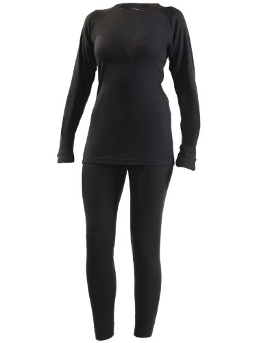 Ultrasport Damen Thermo Funktionsunterwäsche Set, schwarz, M, 49205