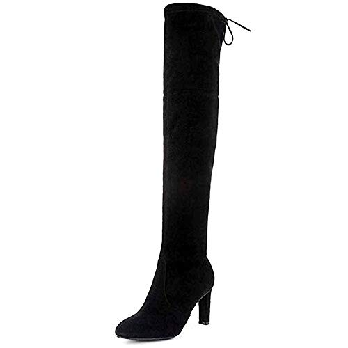 Premier Standard - Women's Thigh High Stretch Boot - Trendy High Heel Shoe - Sexy Over The Knee...