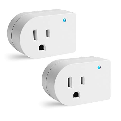 Single Surge Protector Plug, Grounded Outlet Wall Tap Adapter with Indicator Light, 1 Outlet,245J/125V, UL, White, 2Pack