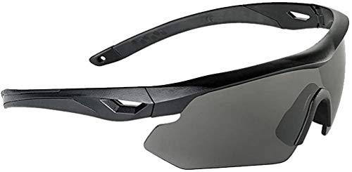 Swiss Eye Nighthawk Sonnenbrillen 3 Austauschbare Objektive Schwarz Gummirahmen