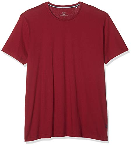 CALIDA Herren Remix Basic T-Shirt, Rot (Rumba red 159), Large (Herstellergröße:L)