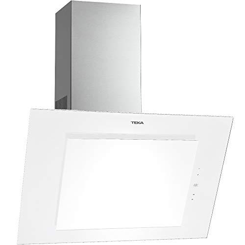 TEKA Wandhaube DVT 980 W, 90cm, Weißes Glas und Edelstahl, 730 m3/h Luftleistung, Randabsaugung, Intensivstufe