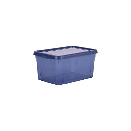 EDA Boîte de Rangement Funny Box 4 L Bleu Profond Acidulé
