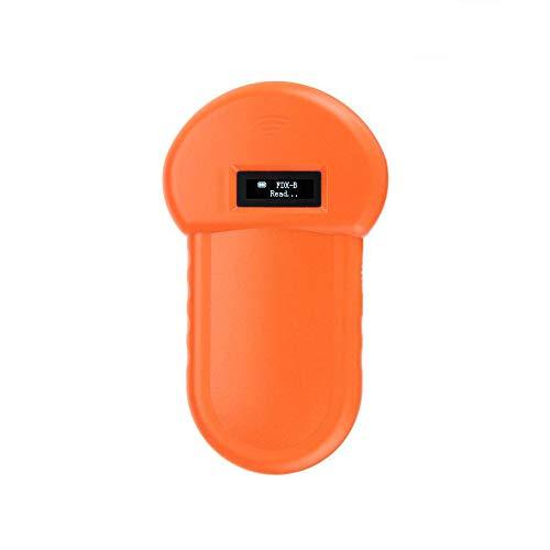NOBCK Tier-Kennzeichnung Chip-Leser RFID 134.2Khz-Reader Chiplesegerät Tierchip Transponder Tierkennzeichnung Handheld Pet Scanner ISO FDX-B Animal Chip Reader für Profis und Privatanwender