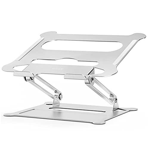 Besign LS05 Supporto PC Portatile, Supporto per Portatile Ergonomico Regolabile in Alluminio, Supporto per Laptop Compatibile con Portatili da 10-15,6  (Argento)