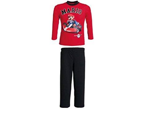 Schlafanzug Mario Kart Single-Jersey feuerrot Größe 104