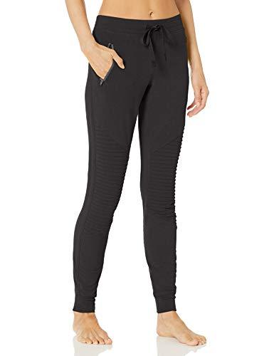 Alo Yoga Women's Urban Moto Sweatpant, Black, Medium