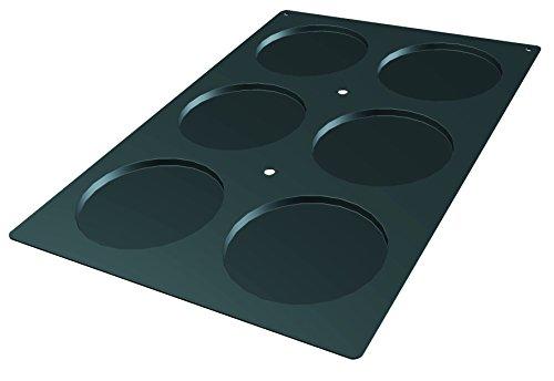 "Lekue Professional Baking 6 Cavities Disc Mold, 23.6"" x 15.7"", Black"