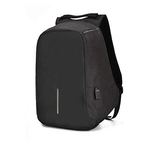 Multifunctional Anti-Theft Laptop Backpack with USB Port Business Style Laptop Notebook Sleeve Case Carry Bag-Black BCVBFGCXVB