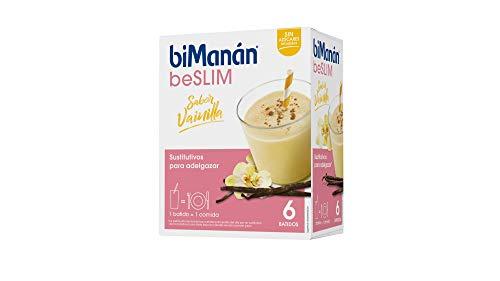 biManán - beSLIM - Sustitutivos para Adelgazar - Batido Vainilla - 6uds 400 gr