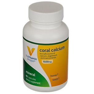 The Vitamin Shoppe Coral Calcium 1,500MG Eco Safe Source of Calcium, Magnesium Trace Minerals to Support Healthy Bones and Teeth (90 Capsules)