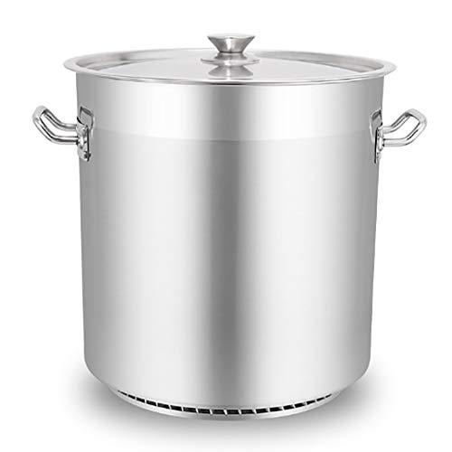45 litros 201 Acero Inoxidable De La Olla, Olla De Sopa Espesa Gran Comercial Con Tapa, For La Estufa De Gas/Cocina De Inducción (20-225L) Ollas (Size : 45L)