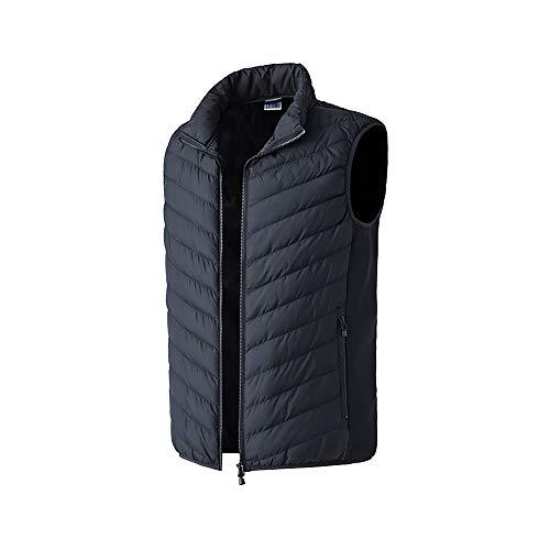 Chaleco calentado, chaleco sin mangas, chaqueta de camuflaje lavable, ropa climatizada para exteriores, batería no incluida, negro, XL