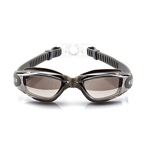 YWSZY Gafas Natacion, Gafas Deportivas acuáticas Anti-Niebla comprobante Anti-Ultravioleta Silicona Natación Gafas Hombres y Mujeres Buceo Gafas de baño (Color : Silver)