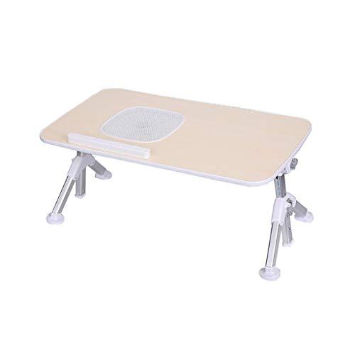 Ordinateur Portable lit Table Bureau Pliable Hauteur Portable et Angle réglable avec Ventilateur de Refroidissement (Taille : 60 cm)