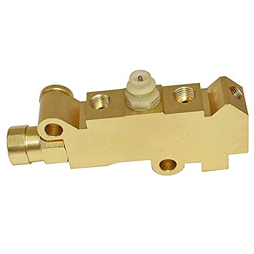 A-Team Performance Combination-Proportioning Valve, PV4 172-1361 PV71 Heavy Brass Finish Heavy Duty for Disc Disc Brakes Compatible with Ford, Chevy, Mopar