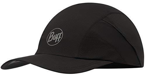 Buff Pro Run Cap Lauf Schirmmütze | UV-Schutz | Laufen | Joggen | Sportmütze | Sport-Kappy + Ultrapower Schlauchtuch | Laufkappe | Schirmmütze R-Solid Black - 117226.999.10.00