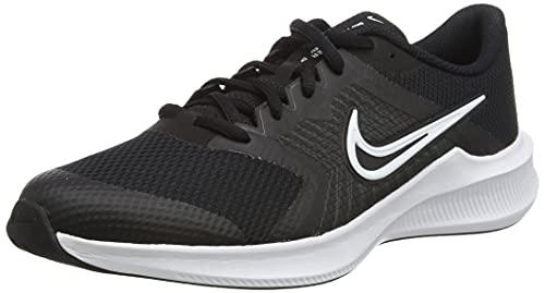 Nike Downshifter 11 GS, Zapatillas Deportivas, Blanco y Negro, 35.5 EU